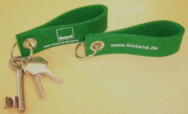 Schlüsselanhänger Filz - Bioland