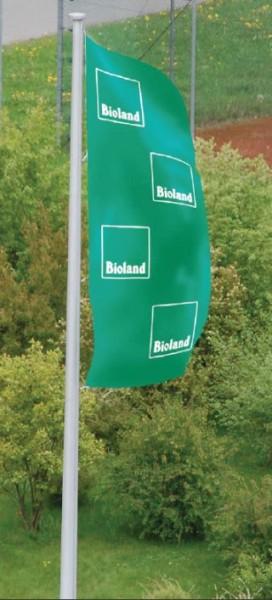 Bioland-Flagge, Hochformat grün