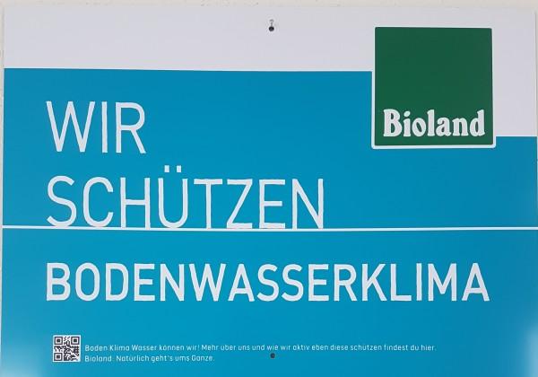 """Feldtafel """" Wir schützen BODENWASSERKLIMA"""""""