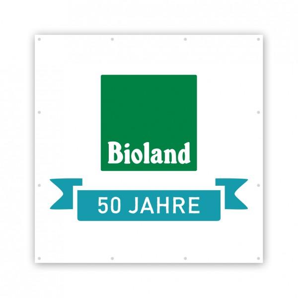 """Bioland-Banner """"Jubiläum"""" quadratisch"""