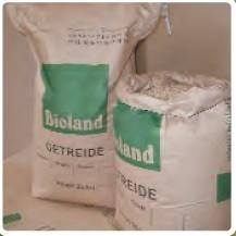 Papier-Kreuzbodensäcke Bioland-Aufdruck 30 Stück