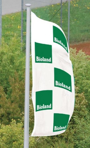 Bioland-Flagge, Hochformat weiß