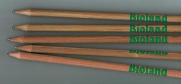 Bleistift mit Bioland-Aufdruck