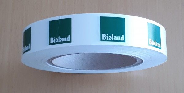 """Klebeband """"Bioland"""" Kunststoff 2,5cm"""