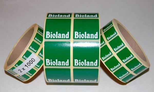 Aufkleber Bioland-Logo 15x15 mm