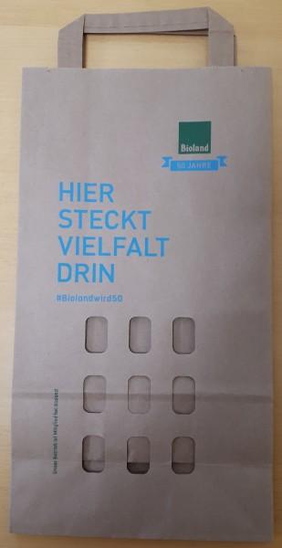 Papiertragetasche mit 9 Loch-Ausstanzung