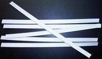 Verschlussstreifen weiß, 18 cm