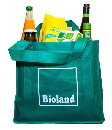 Mehrwegtasche aus Vlies mit Flaschenhalter