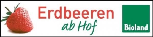 """Banner-Erdbeeren """"ab Hof"""""""