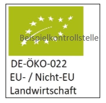 EU Logo mit individueller Beschriftung