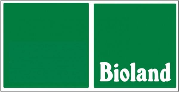 """Betriebsschild grün """"Bioland"""" 60x30 cm"""