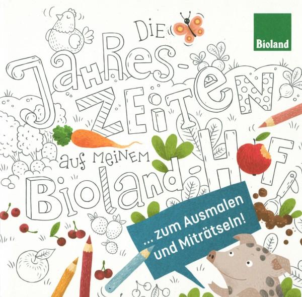 """Malbuch """"Die Jahreszeiten auf meinem Bioland Hof"""""""