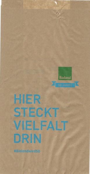 Faltenbeutel braun 15x7x28 cm
