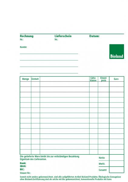 Rechnungs-/Lieferscheinbuch